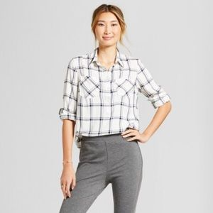 A New Day from Target - navy and white plaid!